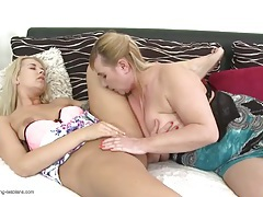 Young lesbian tongue worships an old pussy tubes