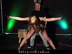 Rope bound girl fucked doggystyle by her master tubes