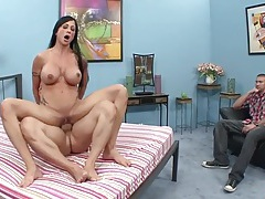 Fit wife cuckolds her husband right in front of him tubes