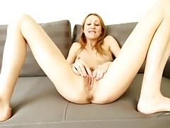 Hard nipples milf rubs her hairy cunt lustily tubes