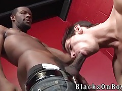 Skinny boy stretched out by a big black dick tubes