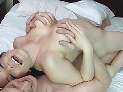 Hot busty mom on top of his cock for a wild ride tubes