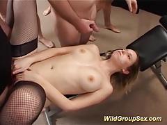 Her first anal bukkake gangbang tubes